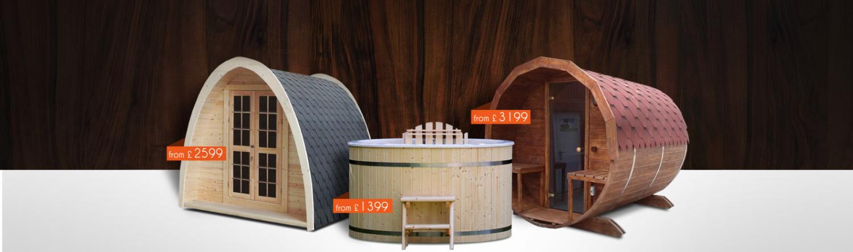 Royal Tubs UK products: hot tubs and saunas