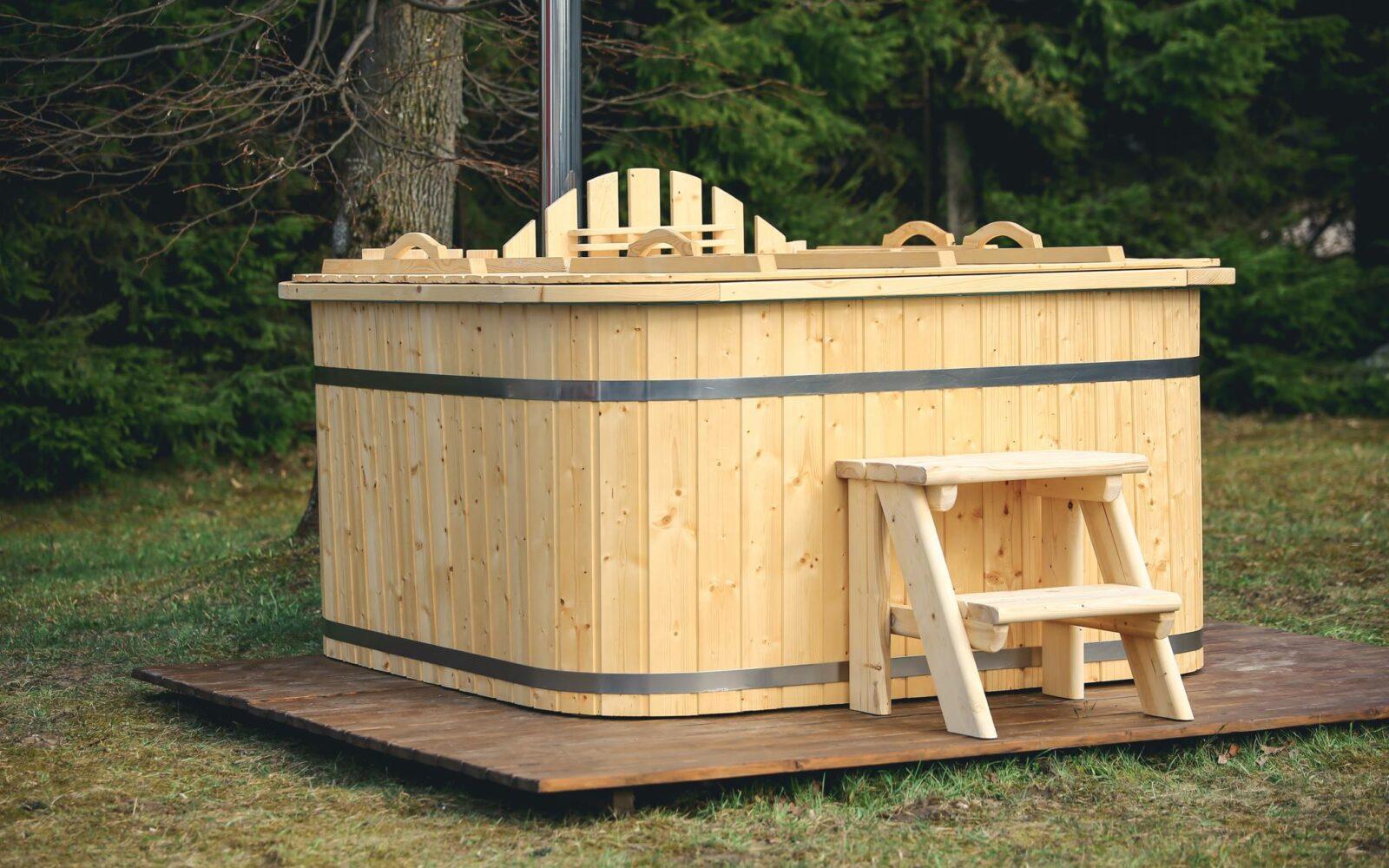 Polypropylene wood fired hot tub internal heater