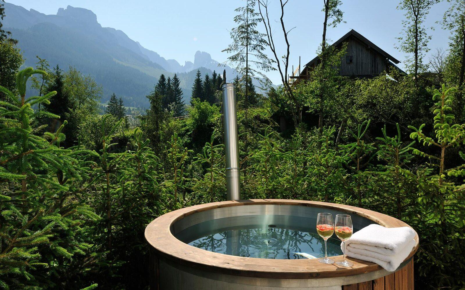 affordable wooden hot tub