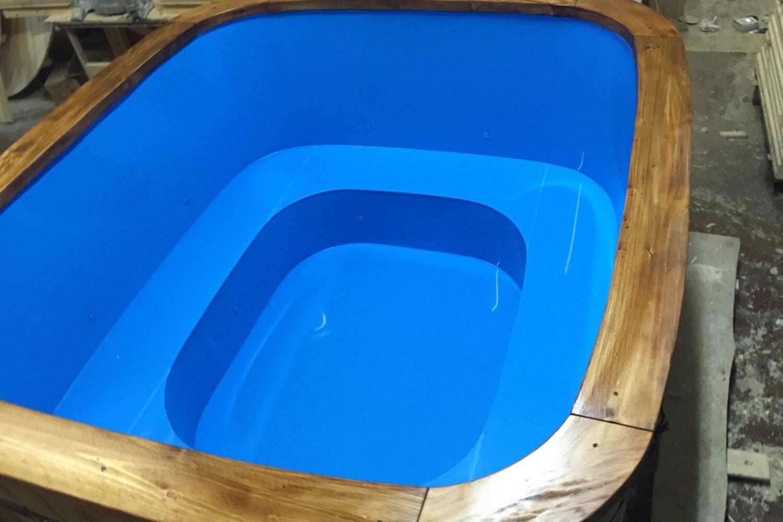 Rectangular Polypropylene hot tub