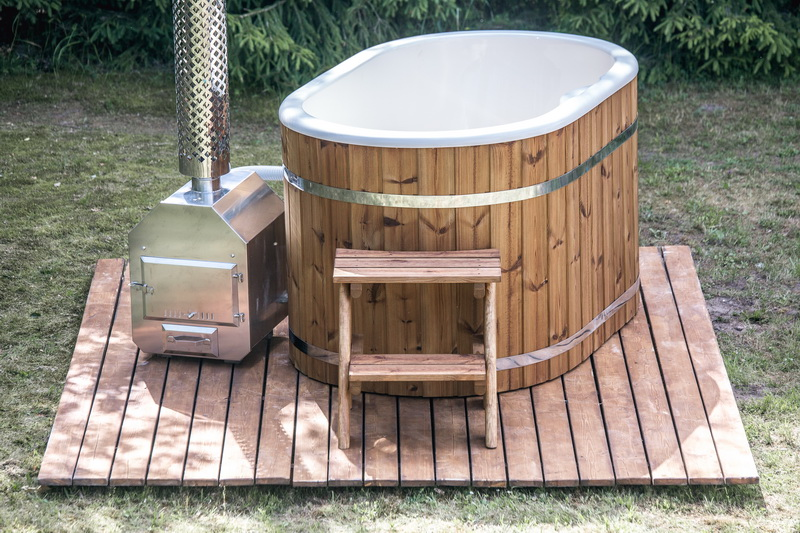 NEW fiberglass ofuro hot tub