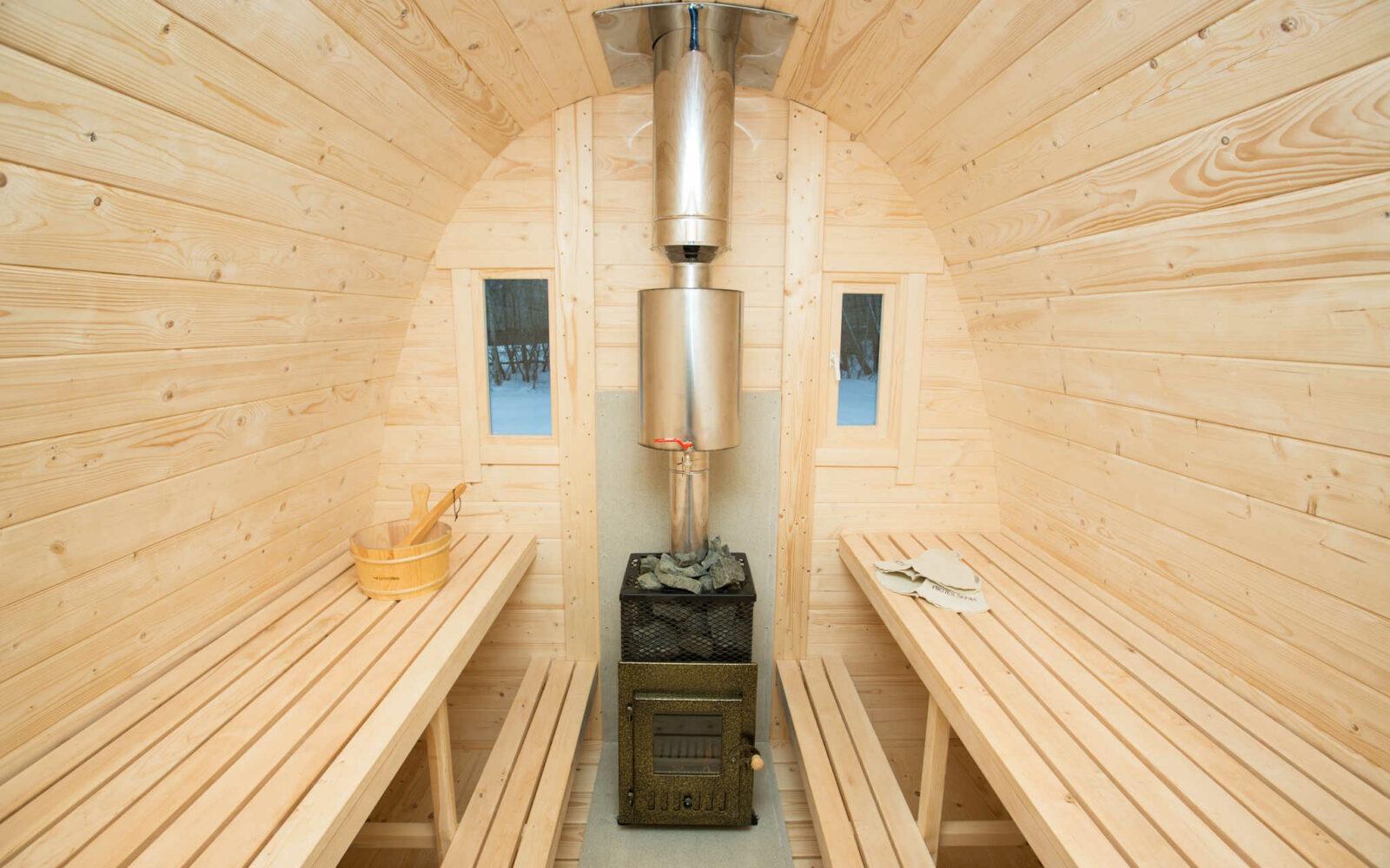 Outdoor Home sauna to recharge